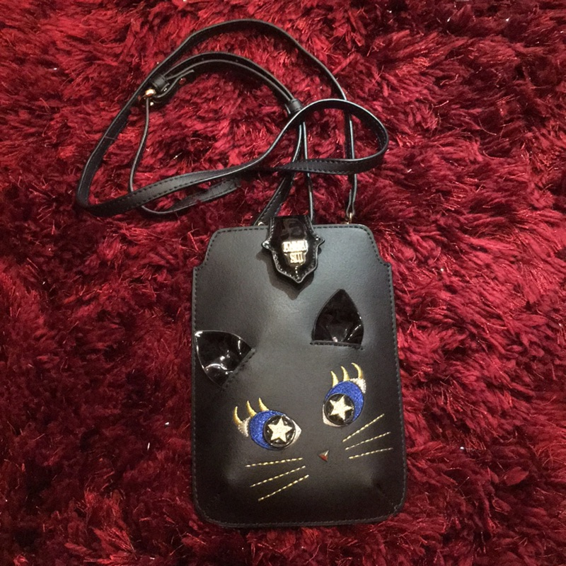 ANNA SUI 貓咪手機包 側背包 錢包