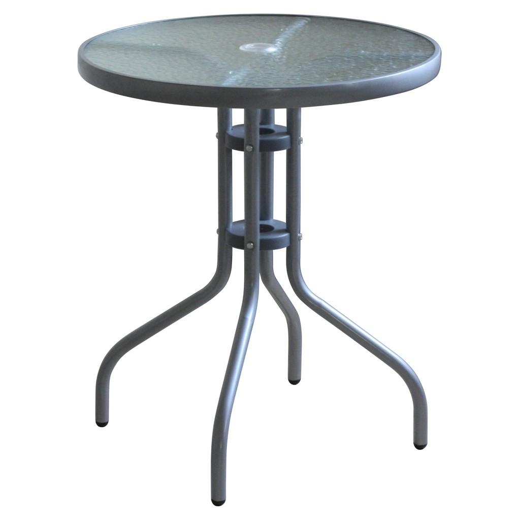 RICHOME TA276-T   奧利爾玻璃圓桌  餐桌椅   吃飯桌椅   聚餐桌椅