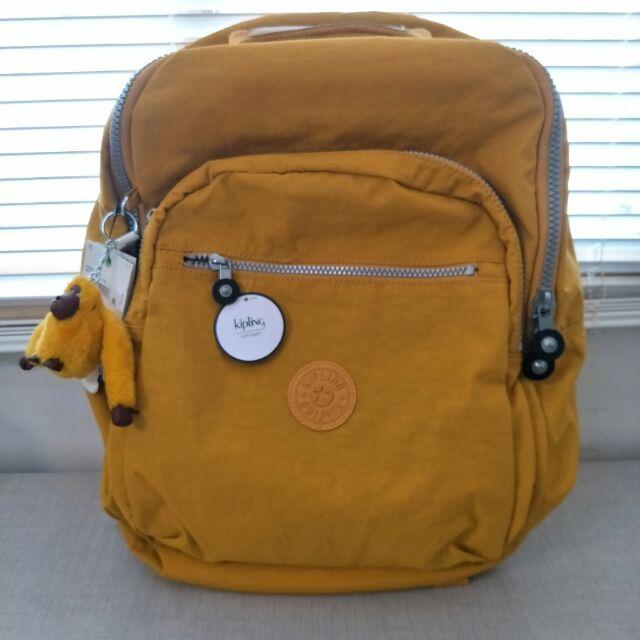 全新Kipling後背包 漂亮的橘黃色