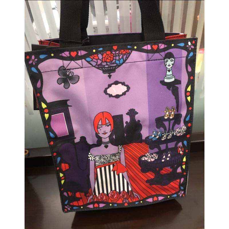 全新限量版星巴克Starbucks x Anna Sui 紫色經典圖案手提袋便當包送禮自用兩相宜值得珍藏絕版品日系韓系