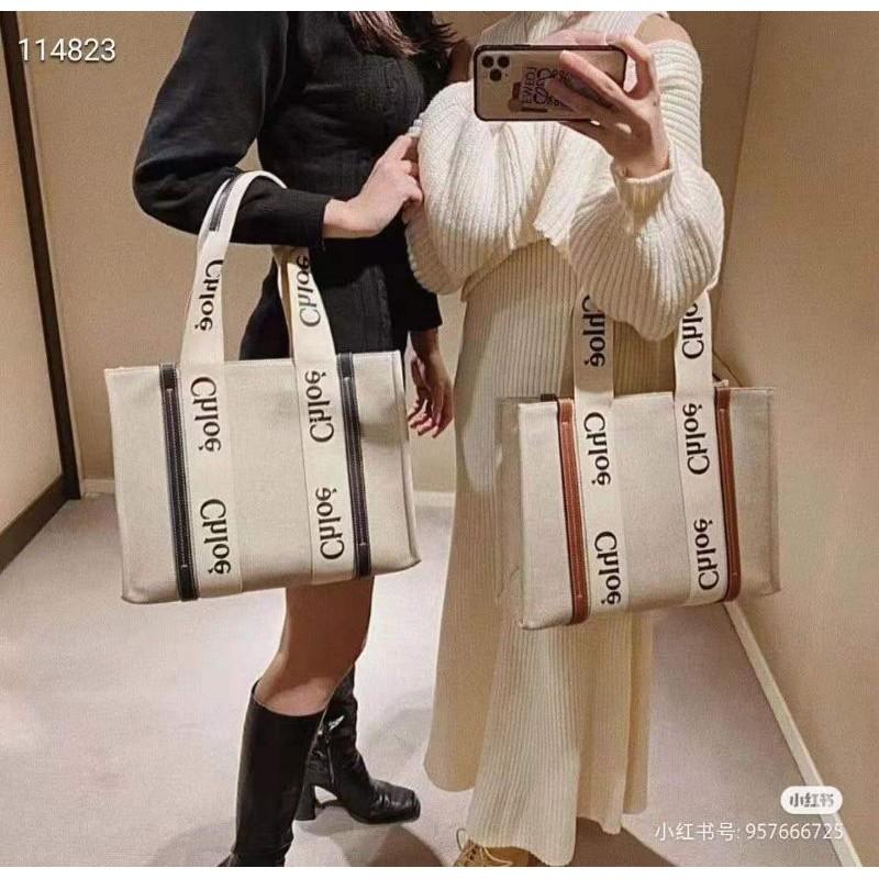 現貨Chloe Woody Tote Bag托特包購物包手提包