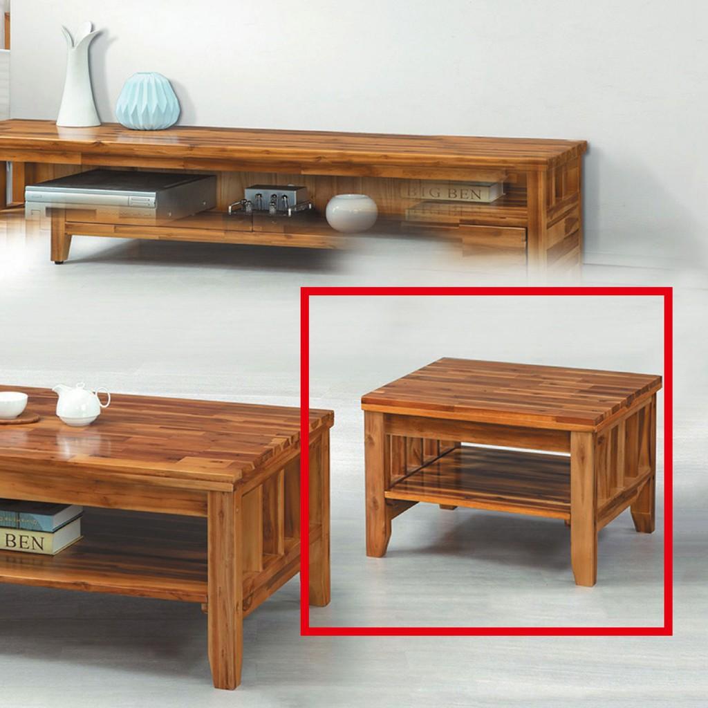 【70cm小茶几-K43-10】實木原木玻璃 大理石長方桌 大小邊几 圓桌 【金滿屋】
