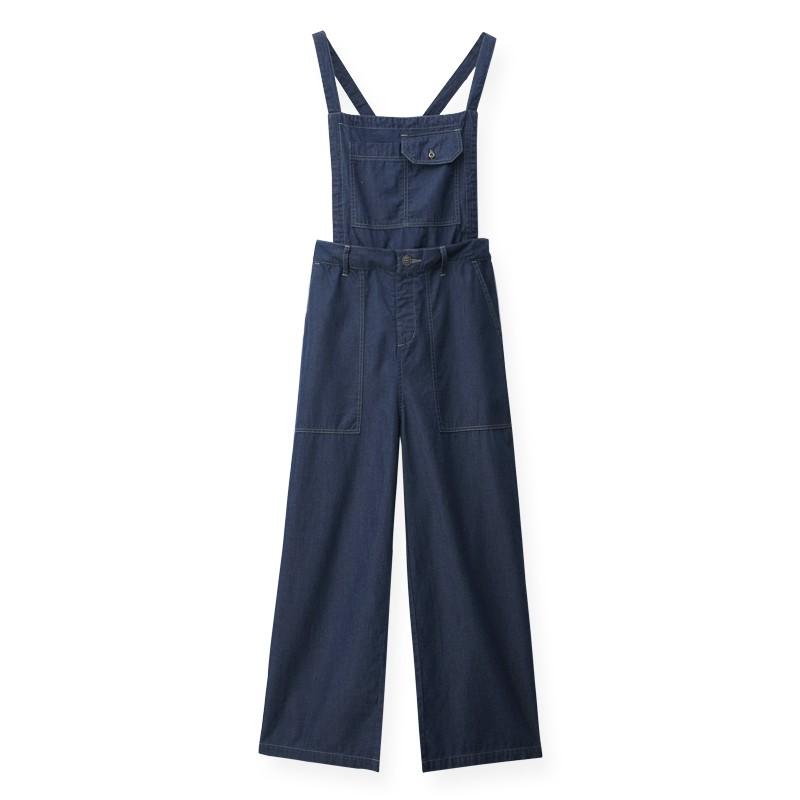 【ERSS】牛仔吊帶寬褲 - 女 原藍色 S20028