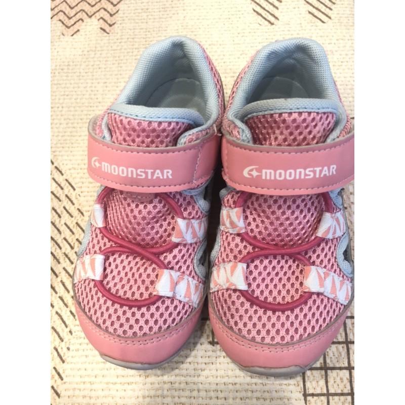 月星 moonstar 女童涼鞋16cm (二手)