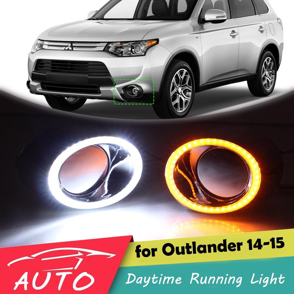 三菱Outlander 2014 2015 LED日行燈帶轉向燈