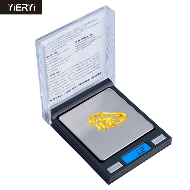 yago現貨熱賣便攜式高精度電子秤100g/0.01g家用小秤珠寶秤手掌稱口袋稱小CD盒秤