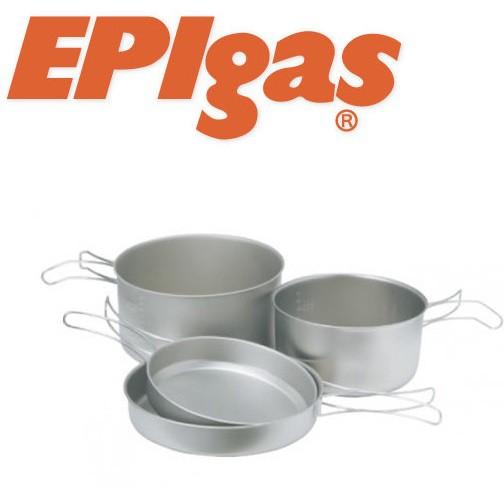 EPIgas 登山鈦鍋/鈦合金鍋組 2鍋2蓋 鈦炊具組Ⅱ T-8009