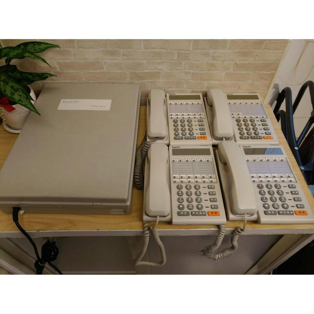 ♥尚揚通信♥二手辦公傢俱 傳康 中古電話總機 4隻話機