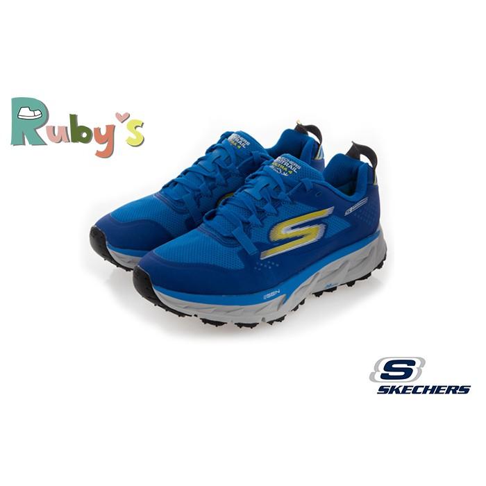 Skechers運動鞋 男鞋 GO TRAIL ULTRA 防潑水運動鞋 足弓 慢跑鞋S8205 藍色Ruby's鞋業