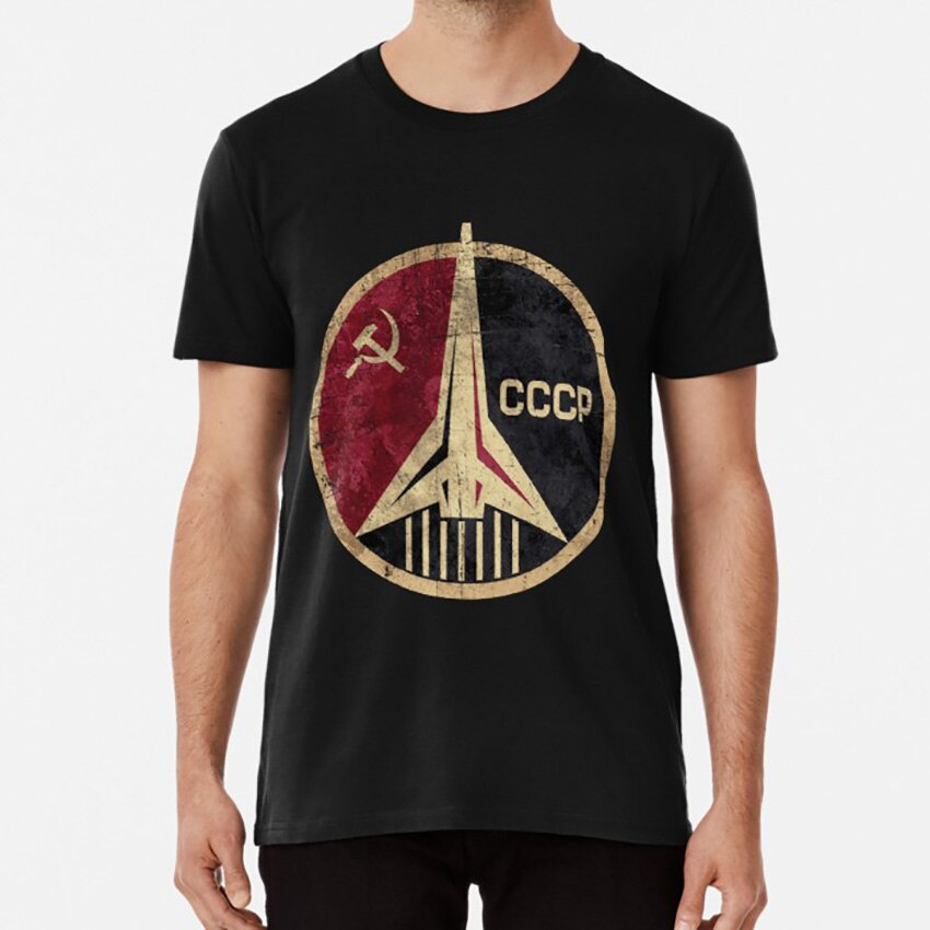 俄羅斯太空計劃 T 卹 Cccp 和 Ussr 蘇聯標誌火箭鐮刀錘徽章 Vostok