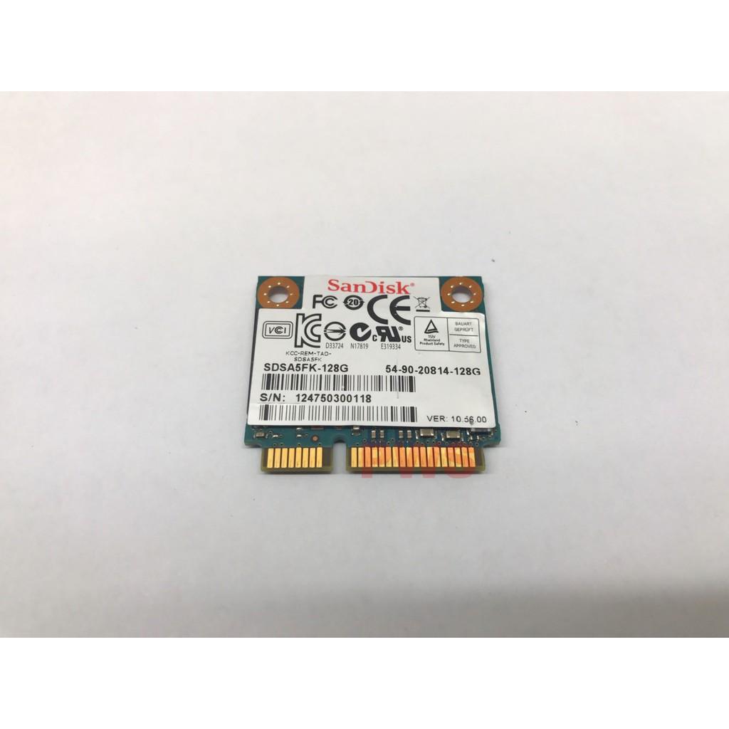 【SanDisk SDSA5FK-128G mSATA SSD 固態硬碟 128GB 】特殊 半高 Half Slim