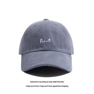 帽子男棒球帽個性point字母刺繡帽素色棒球復古帽潮帽女生帽子carhartt 帽子阿美咔嘰復古簡約質感鴨舌帽