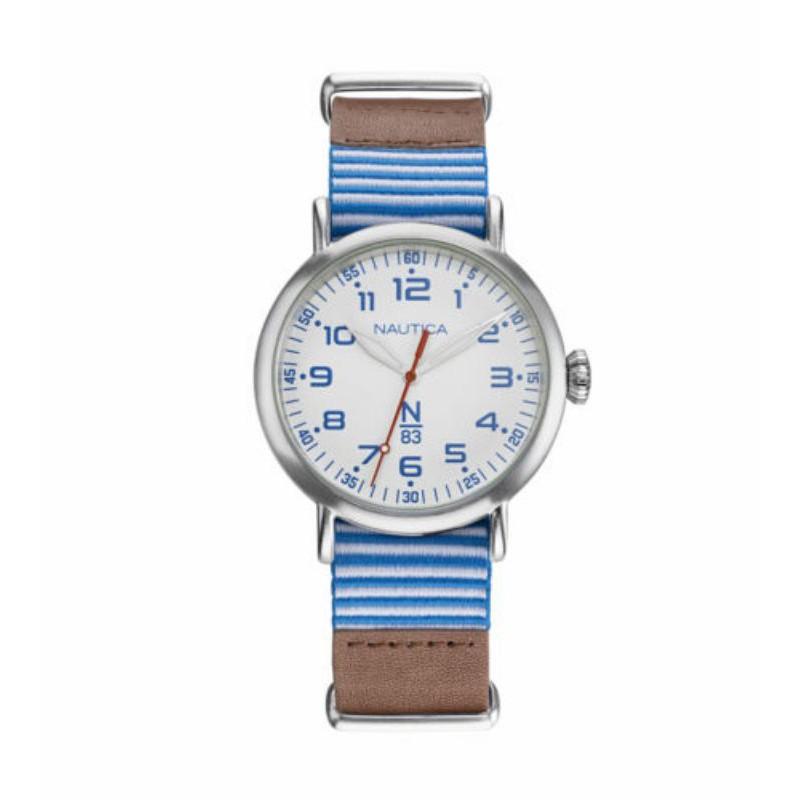 Nautica中性手錶 NAPWLS904 Wakeland 40mm 藍色錶盤 N83 皮革手錶