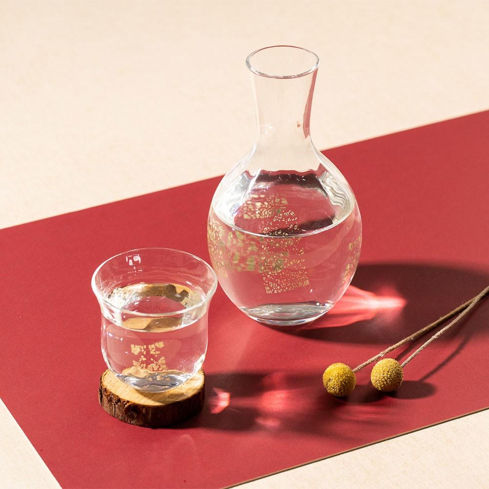 【日本津輕】 德利金箔清酒杯壺(共2色)《泡泡生活》