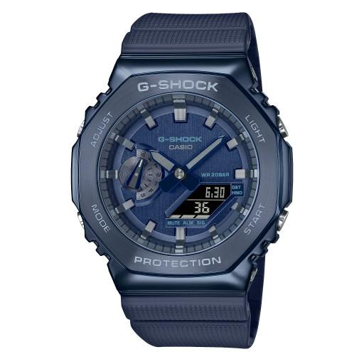 【無限精品 REMIX】CASIO G-SHOCK 簡約獨特金屬質感八角型錶殼 GM-2100N-2A