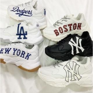 ✨韓國連線代購✨MLB老爹鞋增高6公分 NY LA Boston Dodgers 米白 洋基 休閒老爹鞋 運動鞋 厚底 新北市
