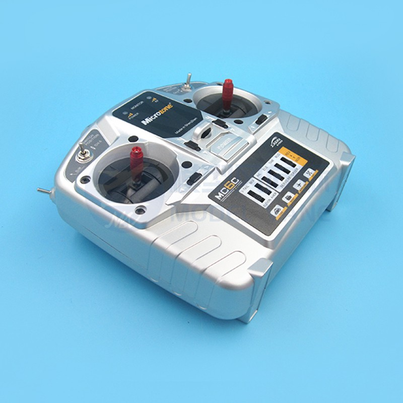 【廠家直銷】MC6遙控器6通道2.4G遙控器接收器6C遙控器套裝6A6B車船航模遙控器