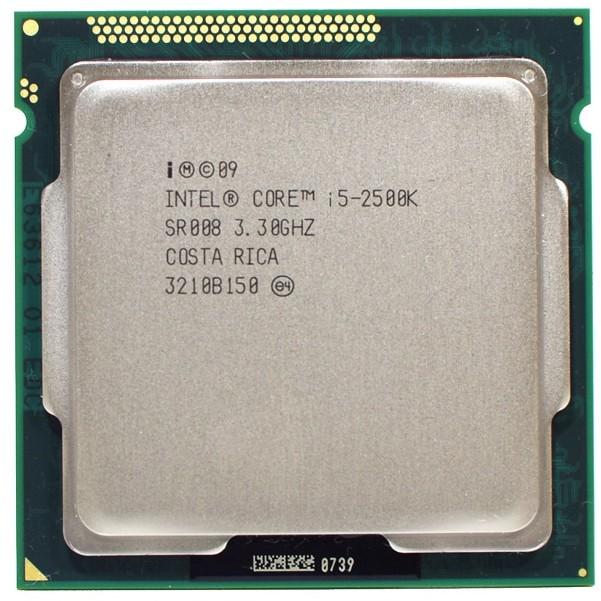 英特尔i5 2500K四核3.3GHz LGA 1155处理器TDP 95W 6MB高速缓存