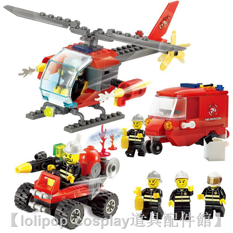 ♞✻■樂高城市系列全套警察局警系局房子別墅積木男孩子拼裝益智力玩具