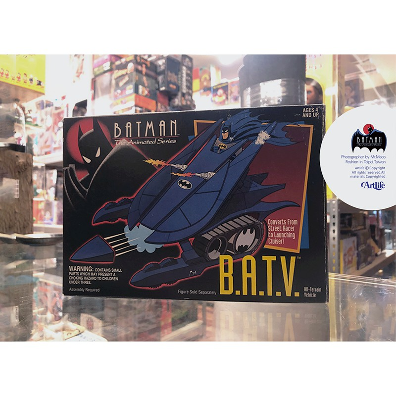 Artlife @ KENNER 1992 DC BATMAN ANIMATED Terrain 蝙蝠俠 蝙蝠車 載具