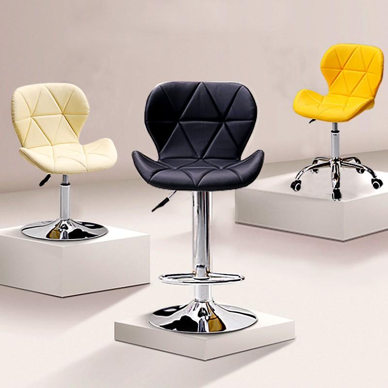 吧臺椅現代簡約高腳凳椅子凳子靠背升降椅家用歐式旋轉前臺酒吧椅 realdsai1