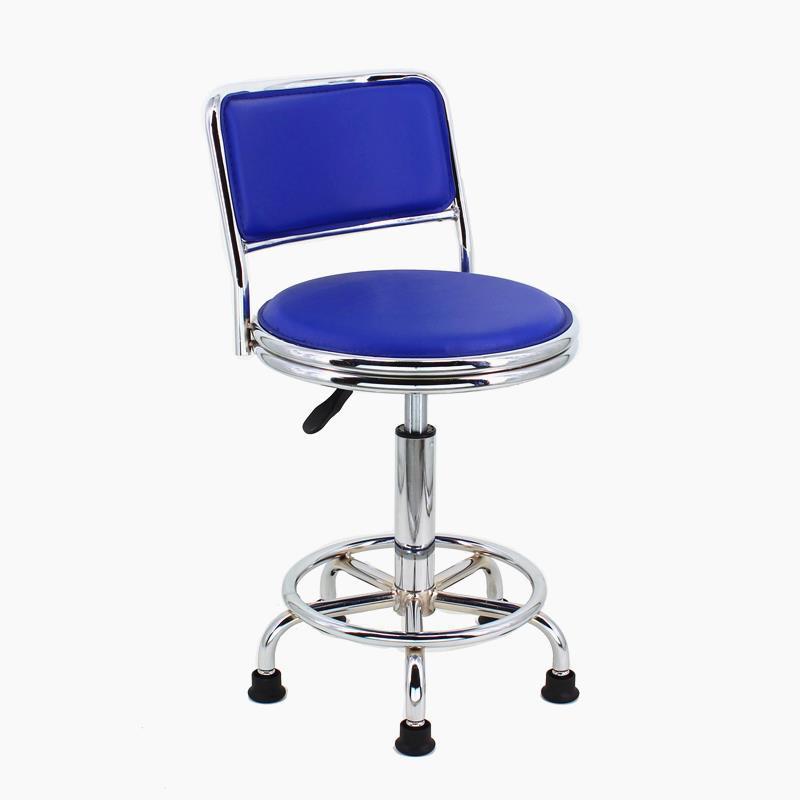 現代橘家升降吧椅吧臺椅 靠背高腳椅 小電腦椅實驗室車間凳子接待前臺轉椅