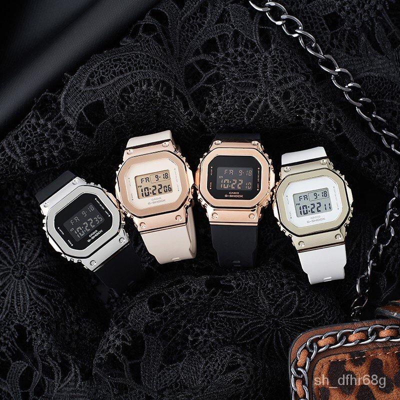 ZujG 卡西歐CASIO小方塊女錶G-SHOCK潮流運動電子女士手錶GM-S5600PG-1新品速遞