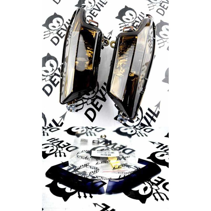 惡魔騎士精品 前方向燈殼 前方向燈組 前方向燈(暗灰)+小燈 日行燈 貼片(黑色) 四代勁戰 四代戰 勁四 新勁戰四代