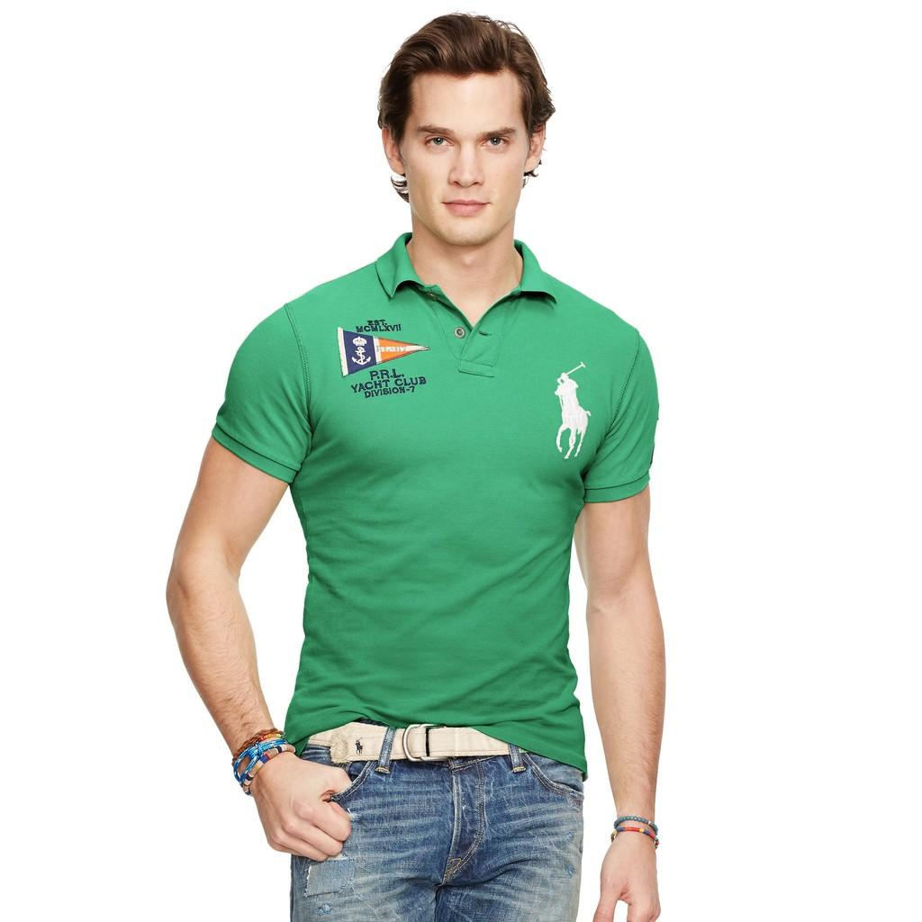POLO Ralph Lauren 全新現貨 大馬短袖 Polo衫 CUSTOM-FIT 綠色 M 正品