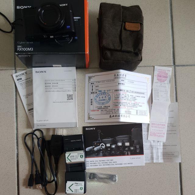 Sony Cyber-shot RX100 III RX100M3 二手 數位相機 9成新(送NATIONAL包