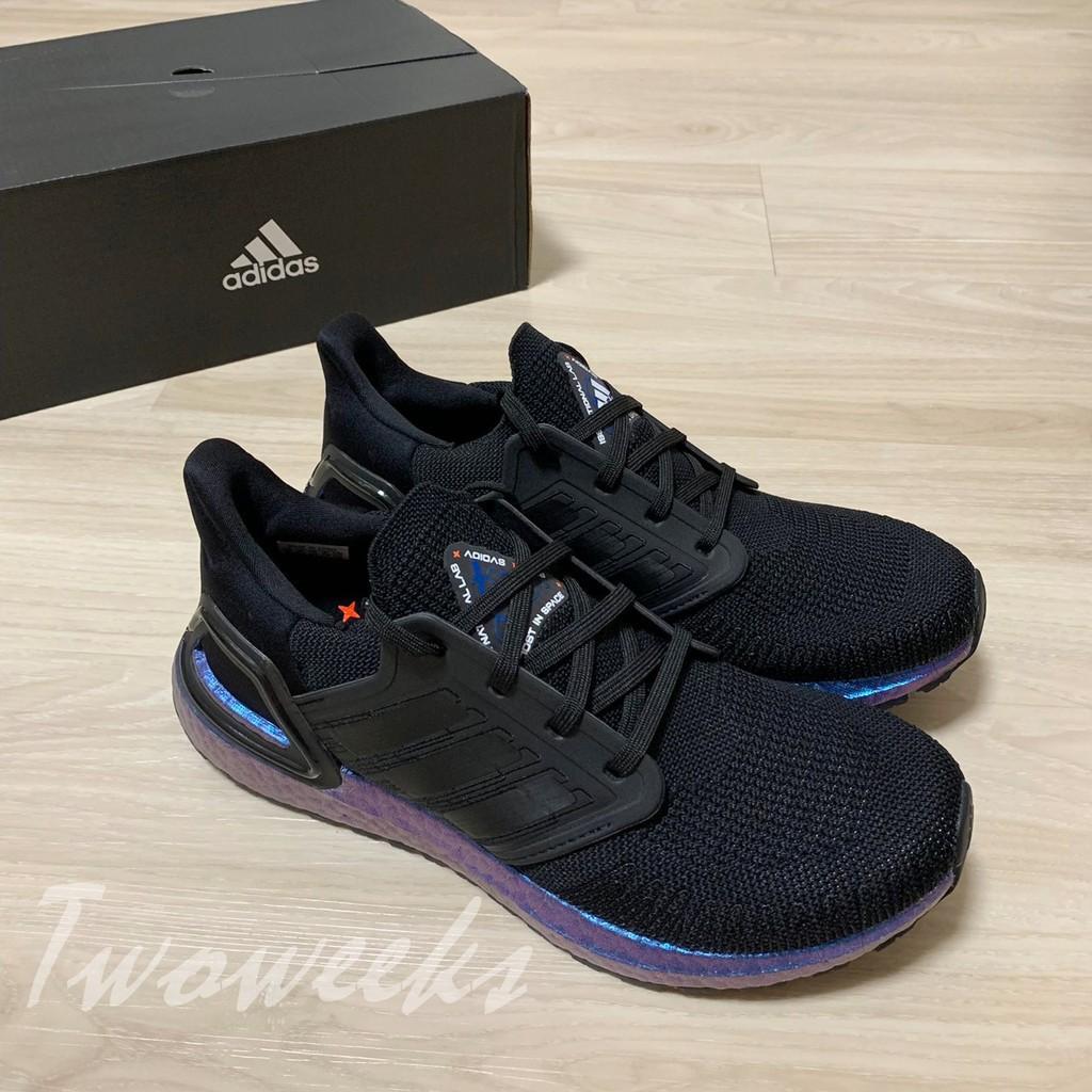 正品 Adidas Ultra Boost 20 EG1341 黑紫 慢跑鞋