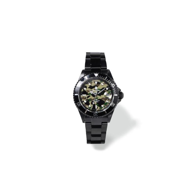 現貨 BAPE BAPEX Type 1 1st Camo 綠迷彩水鬼 手錶