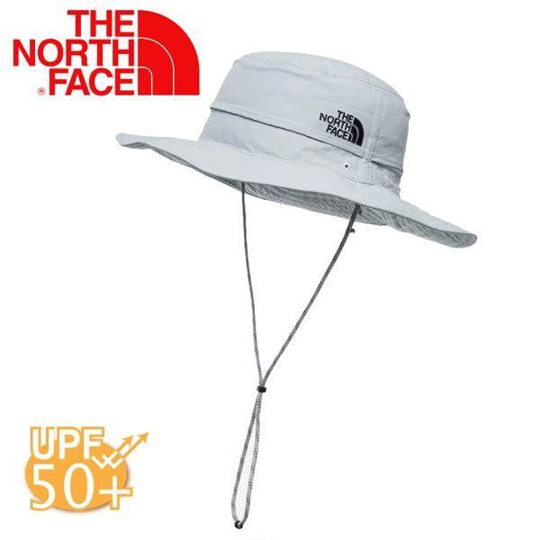 【The North Face 抗UV遮陽帽《灰白》】CF7T/抗UV/防風/大盤帽/防曬帽/休閒帽/漁夫帽