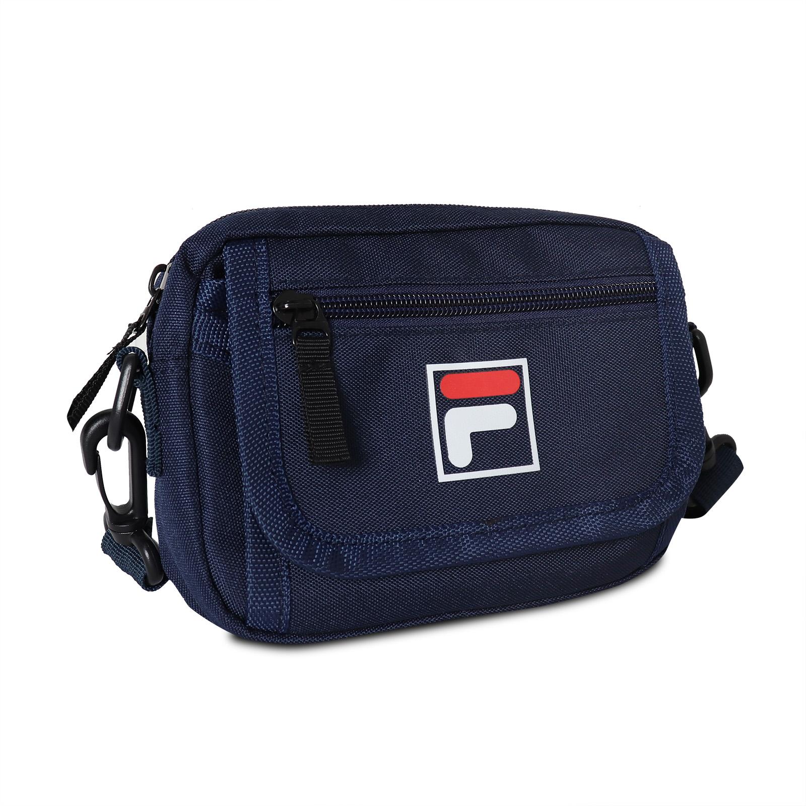 FILA 斜背包 Crossbody Shoulder Bag 藍 白 男女款 外出 側背【ACS】 BMV3018NV