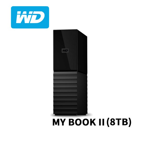 WD MY BOOK II 8TB 3.5吋 U3 外接硬碟 WDBBGB0080HBK-SESN 全新公司貨開發票