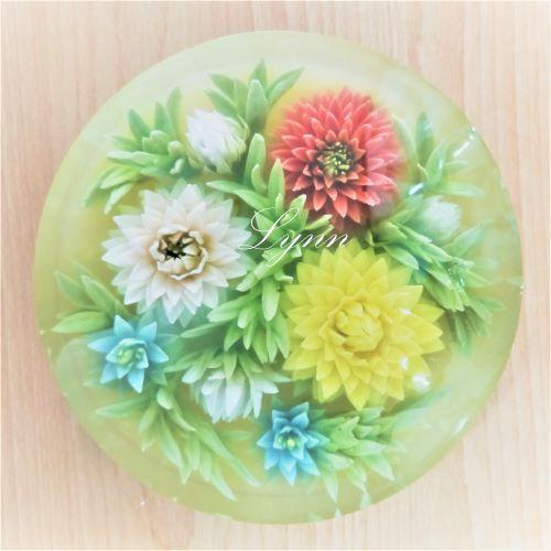 8吋果凍花蛋糕---大麗花