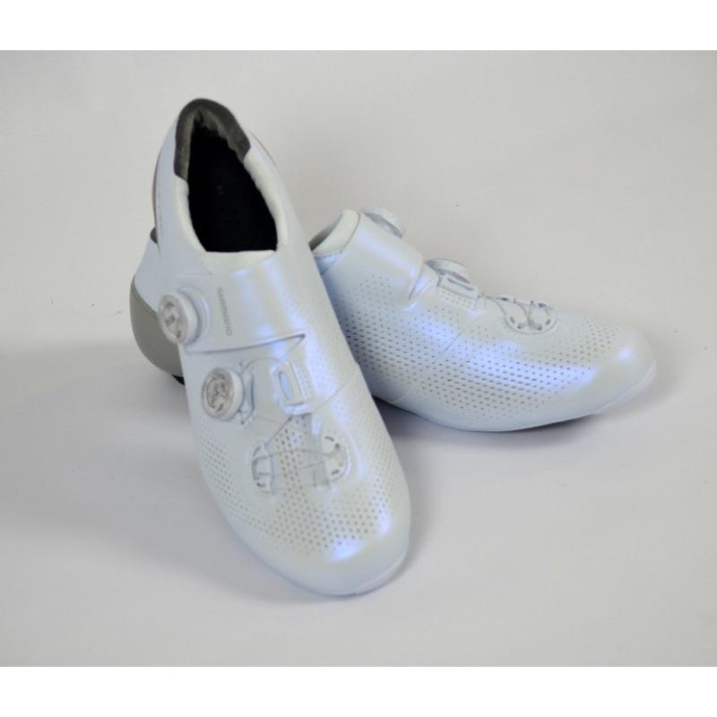 SHIMANO RC901 頂級BOA雙旋鈕公路車碳纖維卡鞋 白