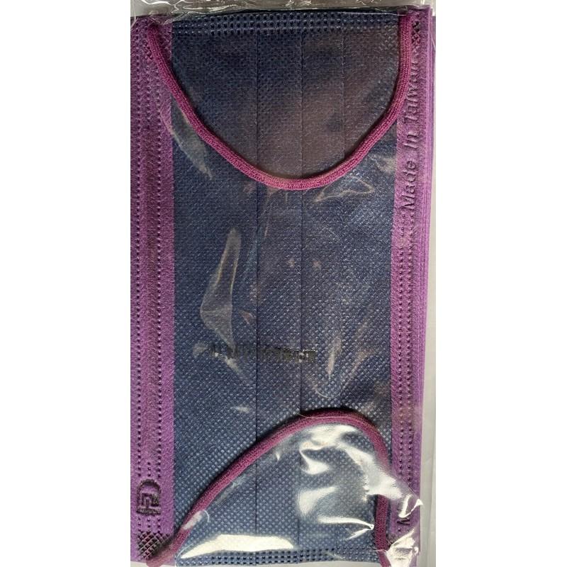 福德好罩福德醫用口罩藍撞紫邊30入裝