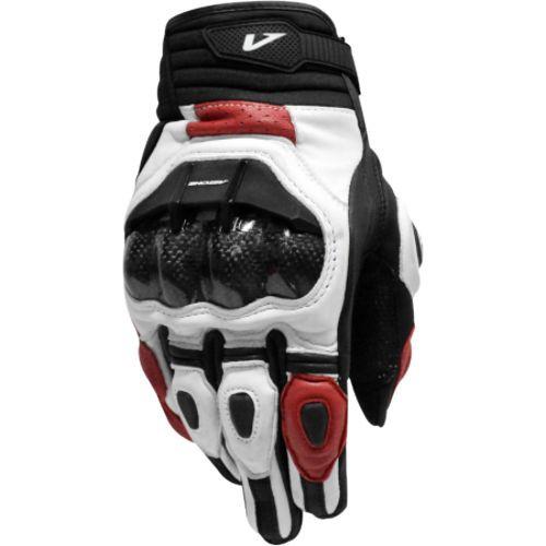 ASTONE LC-01 真羊皮質 LC01 碳纖維防護 白紅色 防摔短手套 透氣 止滑 (法國牌)《比帽王》