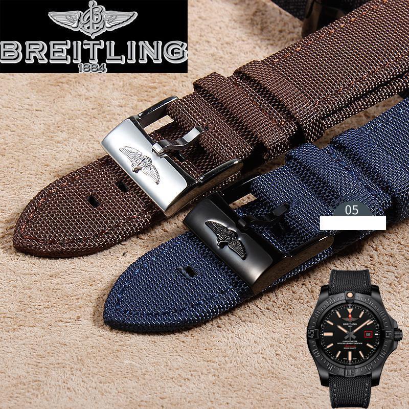 👔🎪代用原裝B家Breitling-復仇者表帶 男手表配件 帆布表帶22mm