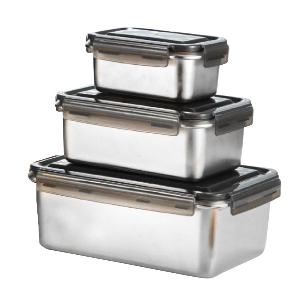 【Quasi】鮮味扣316不鏽鋼保鮮盒 - 共三款《WUZ屋子》密封盒 野餐露營 冰箱收納