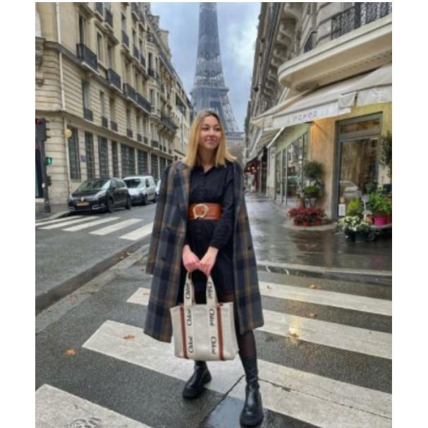 21春夏正品Chloe Medium Woody tote中款中型 帆布托特包 燕麥色米白色 焦糖色咖啡色 現貨