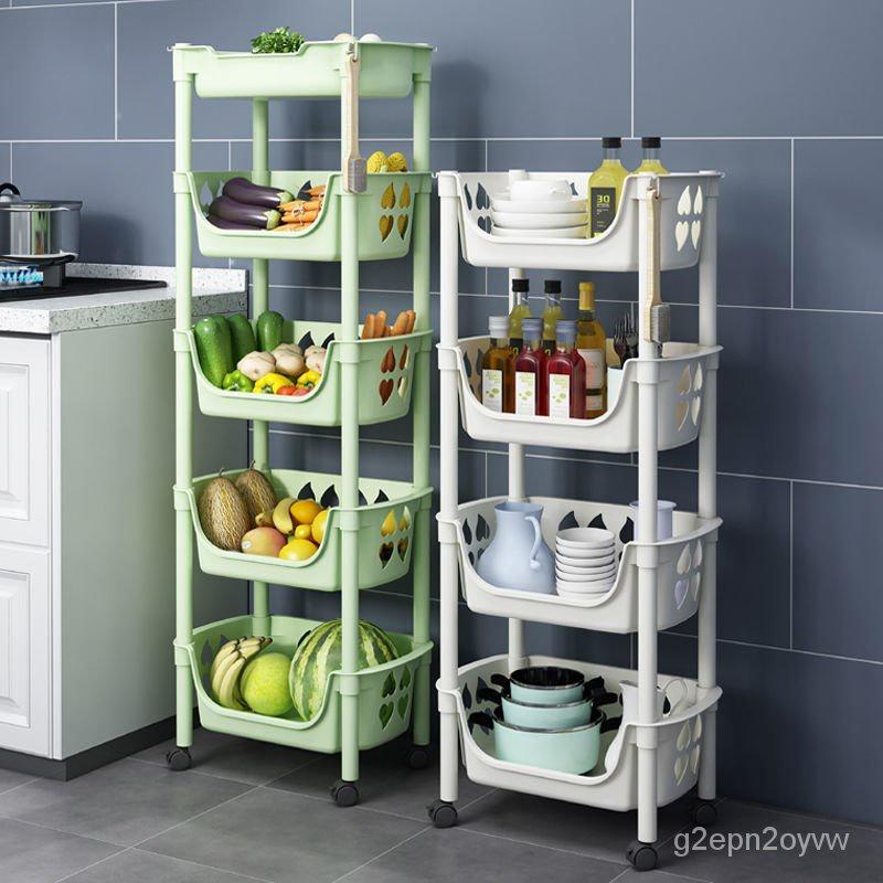 9月新貨廚房置物架落地多層果蔬菜架子用品菜籃子儲菜筐收納神器家用大全g2epn2oyvw 19NP