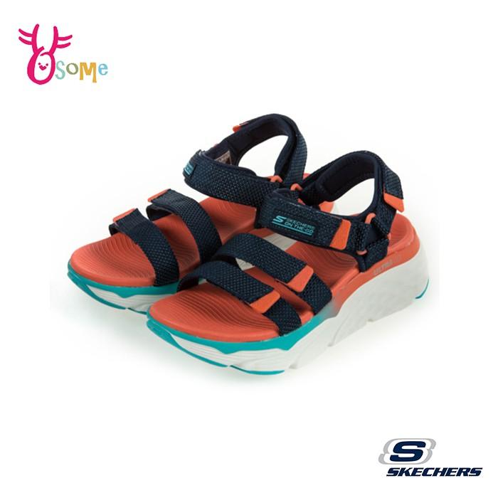 Skechers涼鞋 女涼鞋 運動涼鞋 ON THE GO 健走涼鞋 柔軟Q彈 U8200黑橘OSOME奧森鞋業