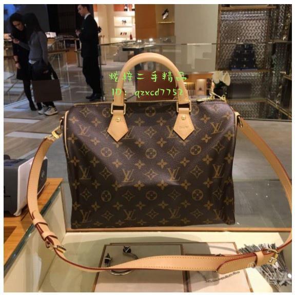 「炫梓二手」Louis Vuitton 路易威登包包 LV女包 SPEEDY30 手提枕頭波士頓包 M41112