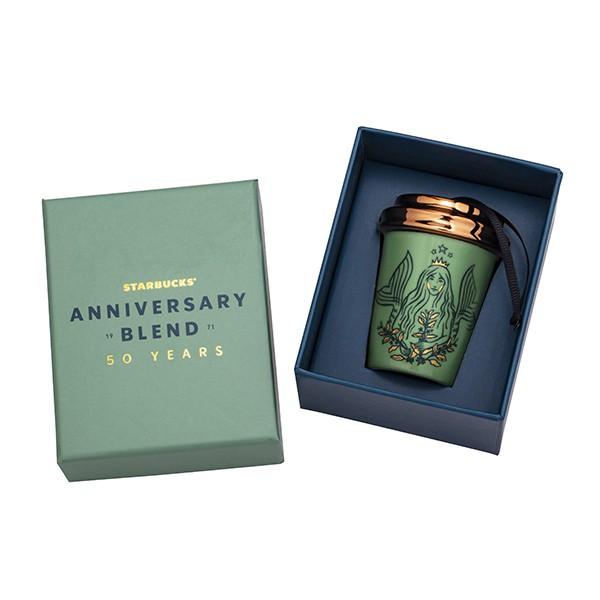 ㊣ 星巴克 50女神咖啡杯吊飾  收藏盒 全球50週年慶 Starbucks 將將星正貨