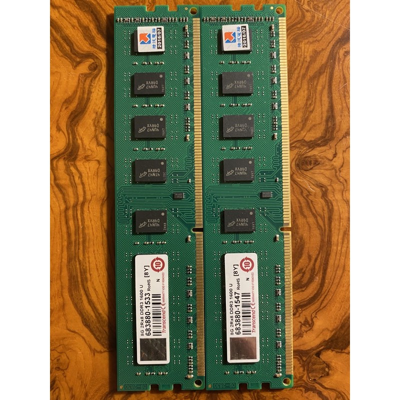Transcend創見 8GB 2Rx8 DDR3-1600U  桌機 記憶體