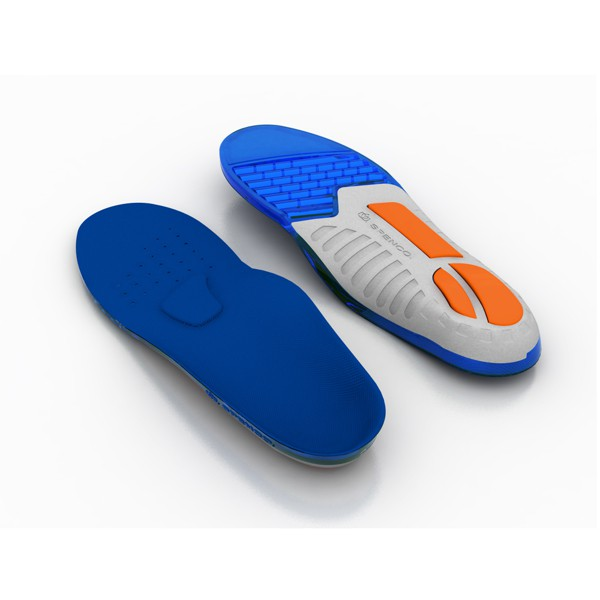 (C2) SPENCO 運動鞋墊 足弓支撐防護系列 矽膠緩衝避震款 足底筋膜炎 SI46-300 [SUN]