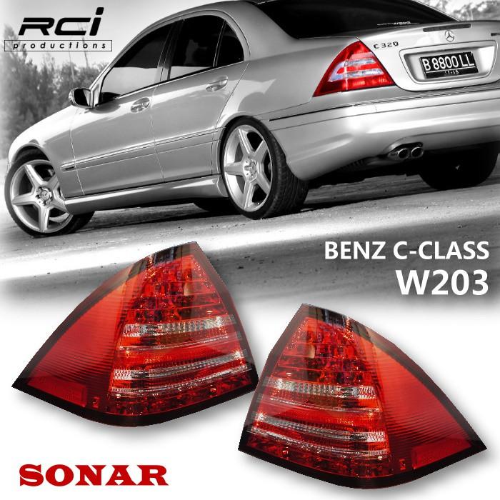 BENZ 賓士 W203 C-CLASS C200 C240 秀山 SONAR 新款 尾燈組