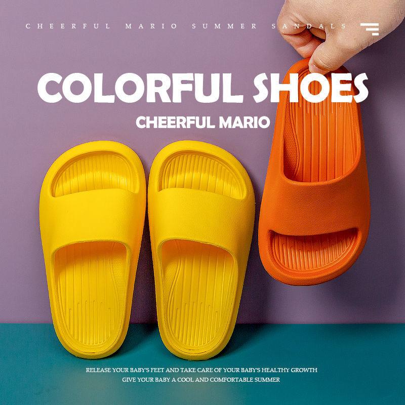 兒童軟底拖鞋可愛⛪小生活卡通小孩男女童家居室內外一字拖防滑涼拖鞋涼鞋